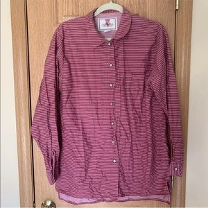 Levi's Jeans for Women Buttons Up Striped Burgundy